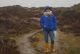 Me on the Island of Terschelling (Photo courtesy of Megan Quinn/NCC staff)