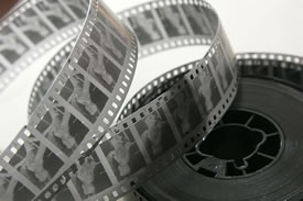 Movie reel (Photo by Runner1616, Wikimedia Commons)