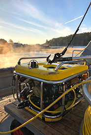 The Ocean Modules Sii (search, identification and intervention) is an ROV that allows scientists to explore the ocean. (Photo by Joel White)