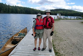 Christine and David Beevis at Lake Opeongo, Algonquin, ON (Photo by CBT/NCC)