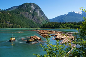 Orford Bay, BC (Photo courtesy of Interfor)