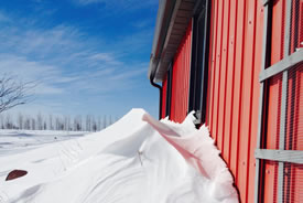 Red barn, blue sky (Photo by Allison Lewis/NCC staff)