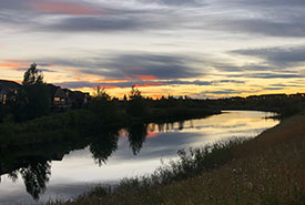 Inverness Pond, McKenzie Towne (Christine Beevis Trickett/NCC staff)