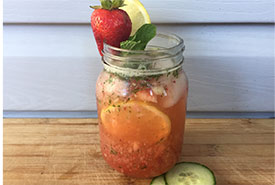 Strawberry cucumber mint lemonade (Photo by NCC)