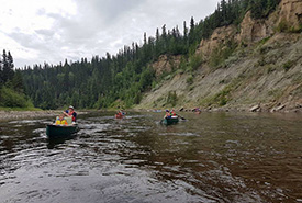 Different canoes have different purposes. (Photo by Scouts Canada)