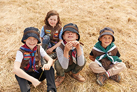 Scouts learn essential outdoor skills and how to prioritize safety in all activities. (Photo by Scouts Canada)