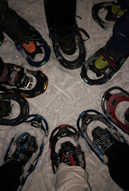 I borrowed snowshoes from work and others from the community. (Photo by Julie Sveinson Pelc/NCC staff)