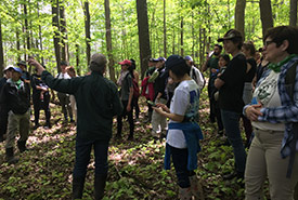 We stopped a few times during the hike to learn about some of the flora and fauna. (Photo by NCC)