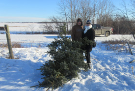 Getting out in nature to find the perfect holiday tree (Photo by NCC)