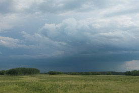 A summer storm gathers over NCC's Fort Ellice prairie (Photo by Marika Olynyk)