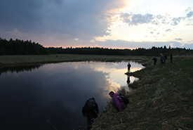 Sunset at NCC's Bunchberry Meadows, AB. (Photo by NCC)