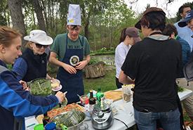 My team hard at work making pesto (Photo by NCC)