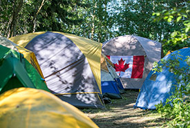 You're venturing into animal territory when camping. (Photo by Scouts Canada)