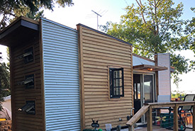 """This year, my family tested our bond and squeezed into a """"tiny house"""" for the long weekend. (Photo by Maia Herriot)"""