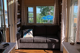 Having so little indoor living space meant that we had to do most of our living outside. (Photo by Maia Herriot)