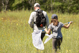 Conservation Volunteers at a butterfly count (Photo by NCC)