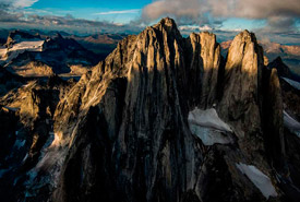 West aspect of the Howser Towers. Bugaboo Group in the Purcell Mountain Range, BC (Photo by Neil Ever Osborne)