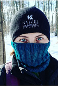 Winter fieldwork isn't so bad if you dress warm (Photo by NCC)
