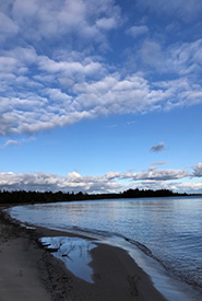 A beautiful beach on Cockburn Island (Photo by NCC).