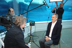 Zoo Revolution interviews Detroit Zoo CEO Ron Kagan (Photo by Geoff D'Eon)