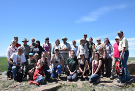 Conservation Volunteers at Sandstone Ranch, AB (Photo by NCC)