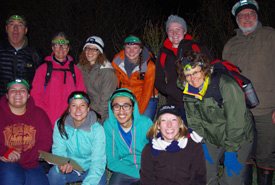 Night group shot at