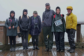 Conservation Volunteers ready for birding (Photo by Fiona Walsh)