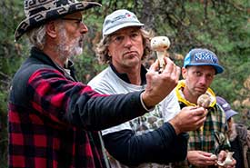 Larry Evans and Tyson Ehlers explain the ins and outs of fungi (Photo by Pat Morrow)