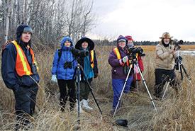 Observateurs d'oiseaux à Baie Verte (photo de CNC)