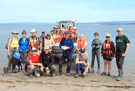Marine debris clean up by Conservation Volunteers, Sandy Point Nature Reserve, NL (Photo by Aiden Mahoney).