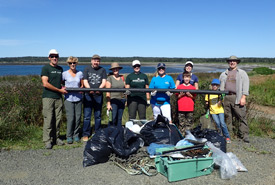 A day well spent at the Brier Island Clean-up. (Photo by NCC)