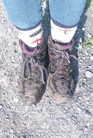 During field work, always remember to put your socks outside of your pants. (Photo by Megan Quinn)