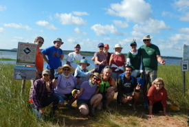 2017 Boughton Island beach cleanup (Photo by NCC)