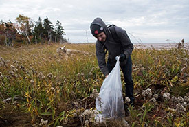 Garbage clean up at Percival River, PEI (Photo by Sean Landsman)