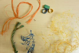 Bits of rope, netting and lobster bands are common marine debris (Photo by NCC)