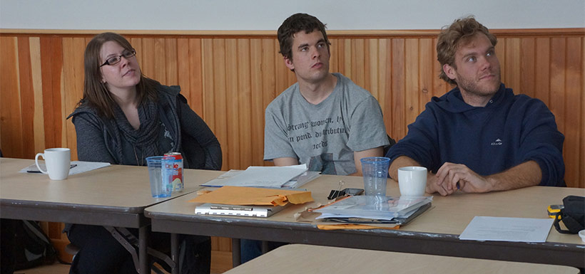 Intern classroom training in Waterton, AB (Photo by NCC)