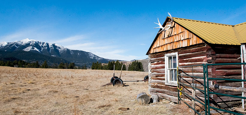 Historic cabin on Dennis Ranch (photo by NCC)