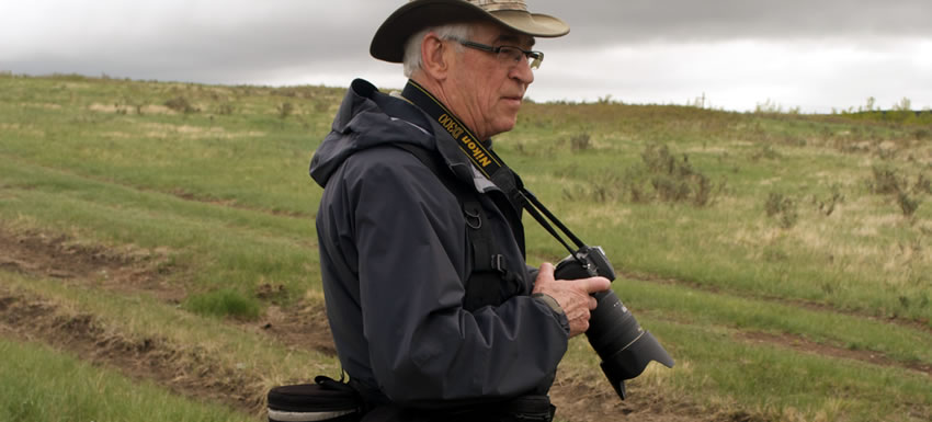 Don Dabbs at Glenbow Ranch, AB (Photo by NCC)