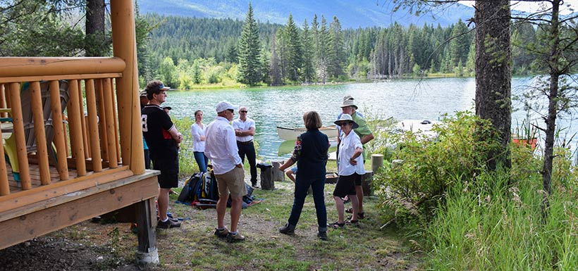Group gearing up for a canoe adventure at the SRL-K2 Ranch (Photo by NCC)