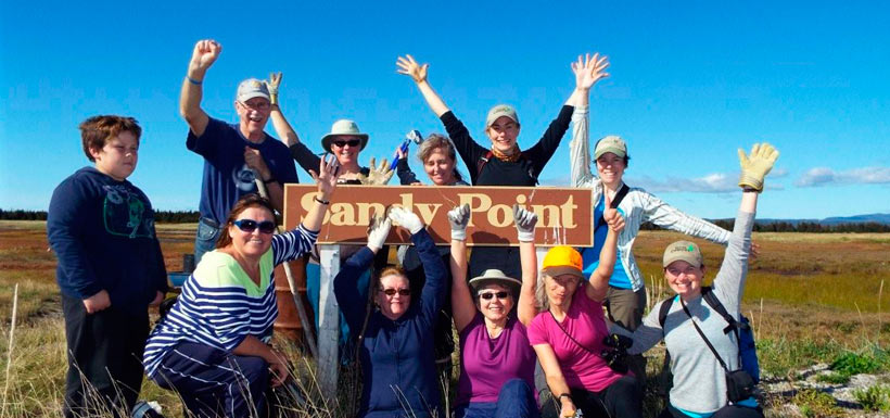 The Motley Crew at Sandy Point, NL '13 (Photo by Aiden Mahoney)