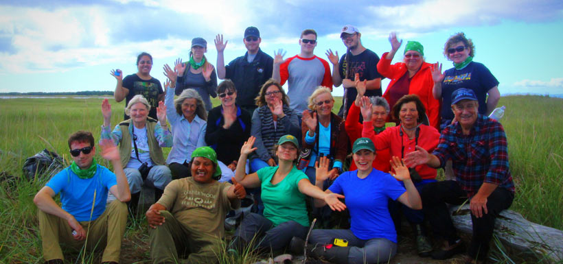 Group photo, Sandy Point beach sweep, NL (Photo by Aiden Mahoney)