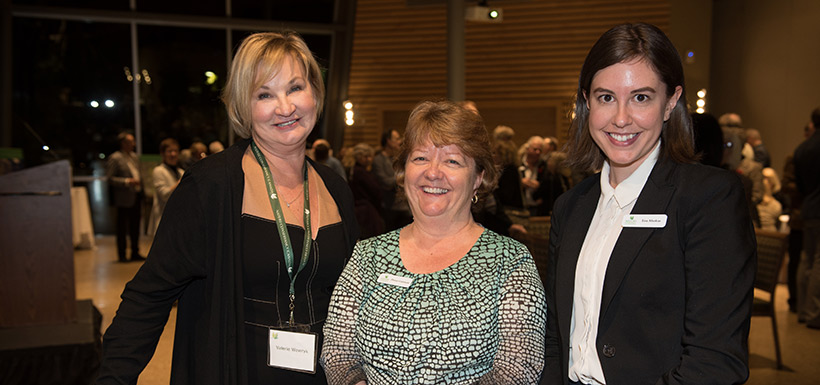 Fundraising Chair Val Wowryk with Donna Goranson and Lisa Maskus (Photo by T. Frickes)