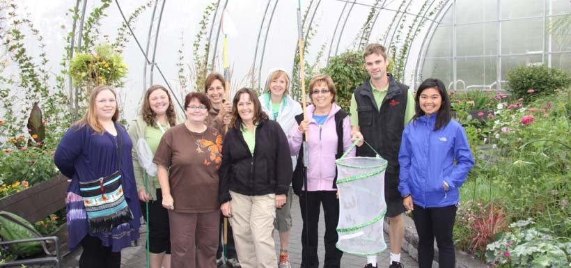 Butterfly catcher team, MB (Photo by NCC)