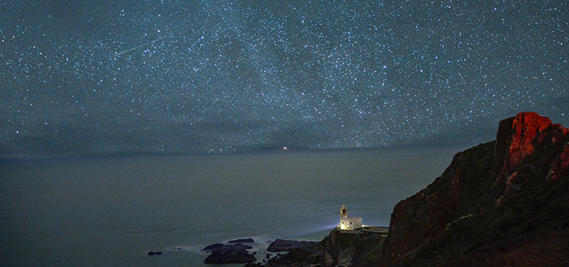 Hartland Lighthouse along the northern coast of Devon. This was the first shoot I ever did with Matt. (Photo by Esme Batten/NCC staff)