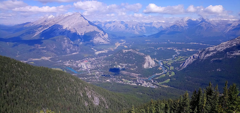 View from Sulphur Mountain summit (Photo by Adam Hunter/NCC staff)