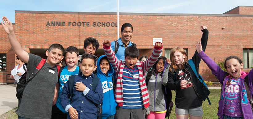 Students from Calgary's Annie Foote School (Photo by Brett Gilmour)