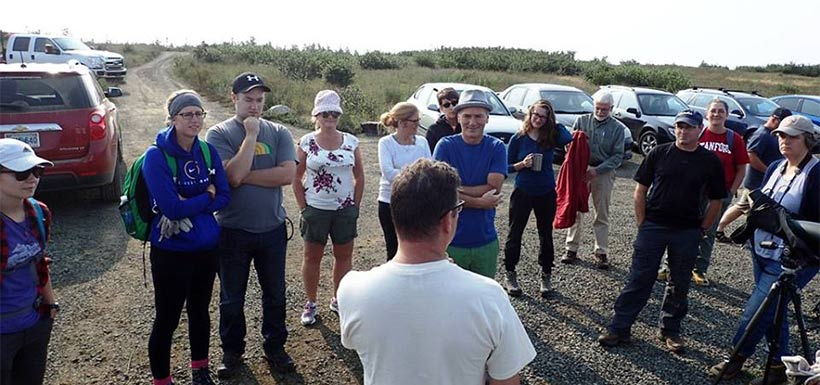 Eager volunteers at Pond Cove. (Photo by NCC)