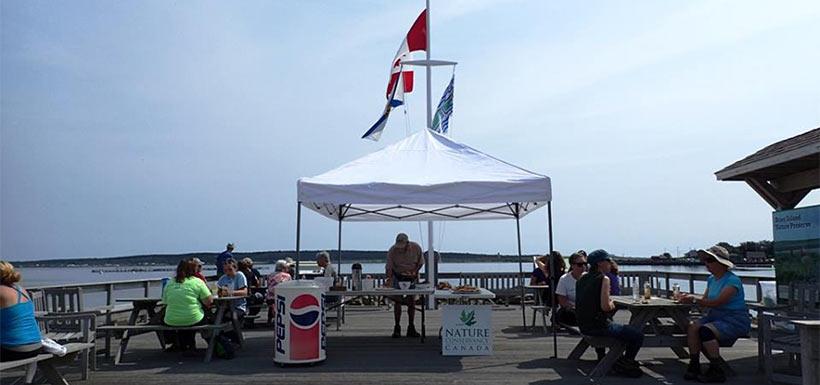A rewarding lunch on the Westport deck. (Photo by NCC)