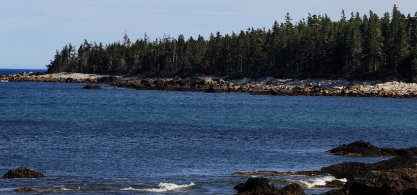 Shoreline at NCC's Nature Reserve at Sandy Bay, Port Joli, NS (Photo by Mike Dembeck)