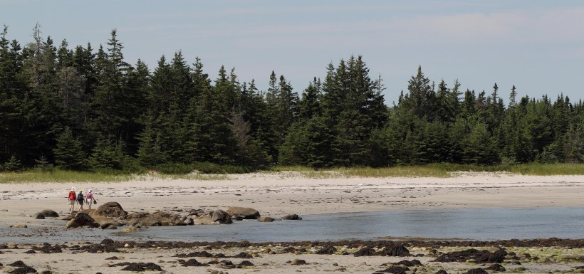 Visitors at NCC's Nature Reserve at Sandy Bay, Port Joli, NS (Photo by Mike Dembeck)